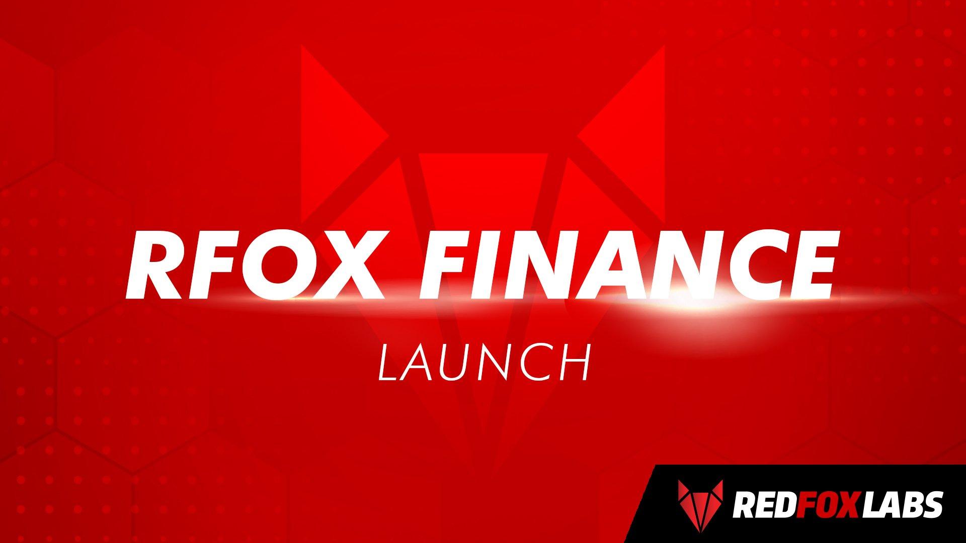 RFOX.Finance is now LIVE!