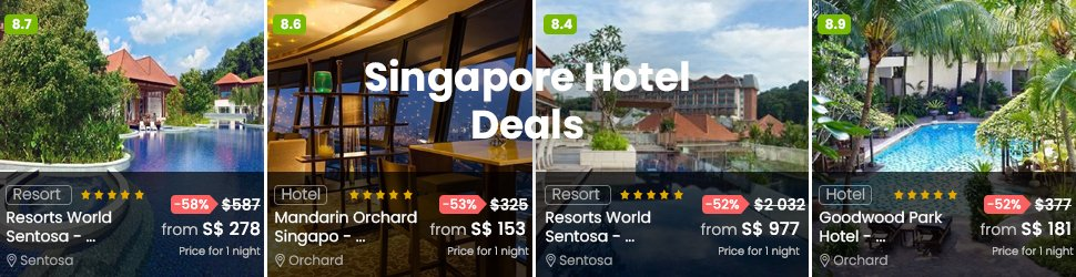 The best hotel prices in Singapore for your staycation
